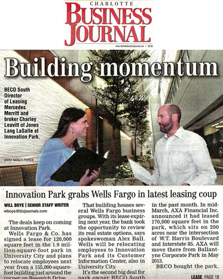 BECO Management in Charlotte Business Journal